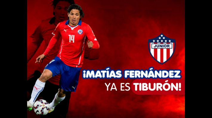 Matías Fernandez es oficializado como nuevo refuerzo de Junior de Barranquilla