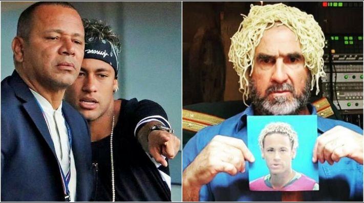 Cantona y el padre de Neymar casi llegan a las manos