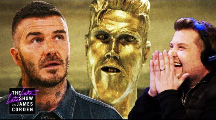 David Beckham, víctima de broma con horrible estatua