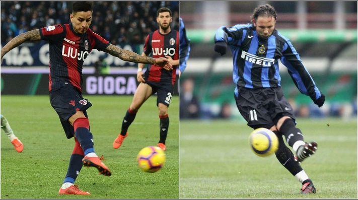 Erick Pulgar lleva dos goles de penal esta temporada en el Bologna