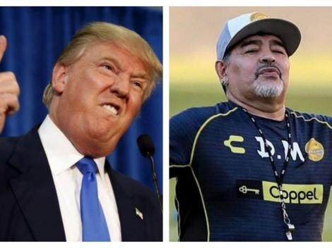 ¿Cabeza de Pichi? Sancionan a Maradona por criticar duramente a Donald Trump