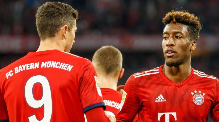 Lewandowski y Coman se pelean en entrenamiento del Bayern