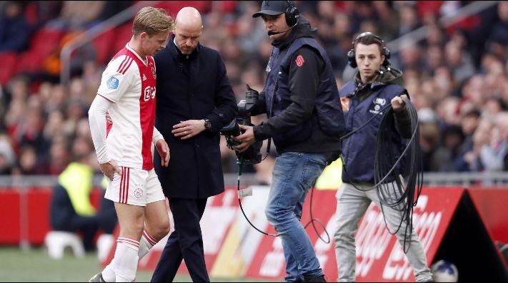 El Ajax, preocupado por el alcance de la lesión de De Jong