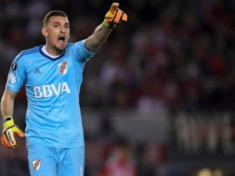 Arquero de River Plate analiza el duelo ante Palestino