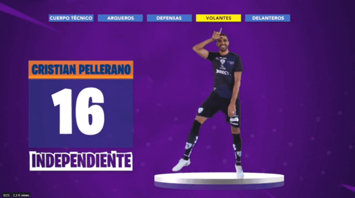 Baile Fortnite de Independiente del Valle