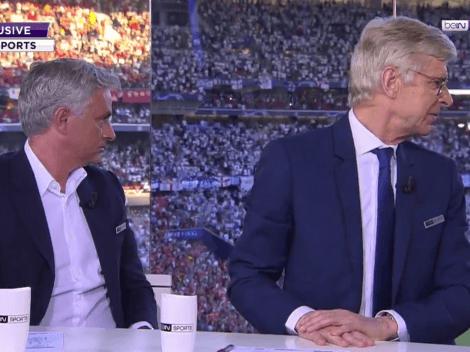 """La reacción de Mourinho y Wenger ante el masivo """"You'll Never Walk Alone"""""""