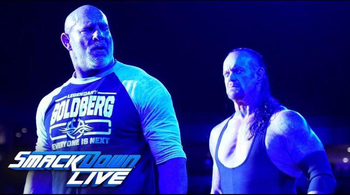 Goldberg y Undertaker tiene épico cara a cara en SmackDown