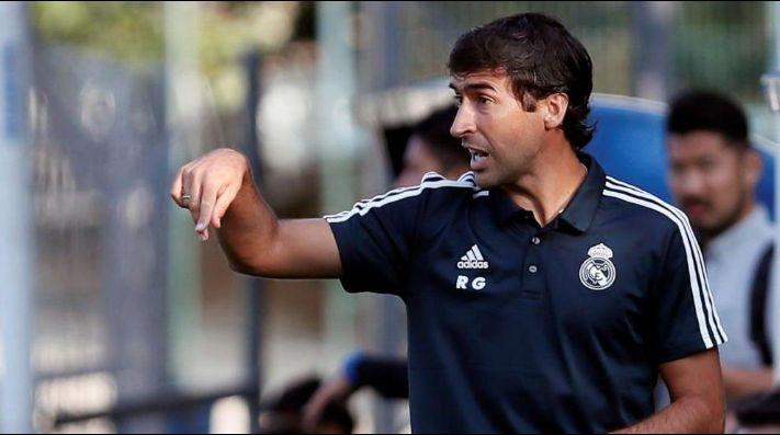Raúl, técnico del Castilla — Oficial