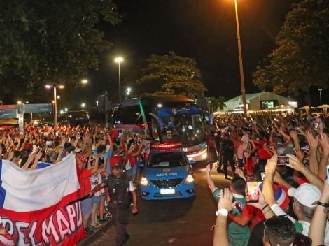 Video: Multitudinario banderazo a La Roja en Copacabana