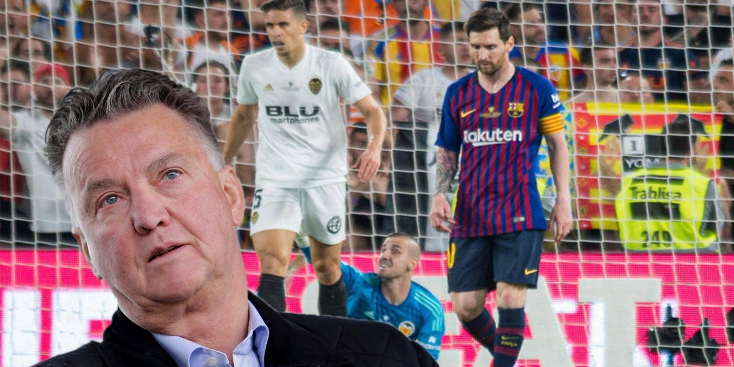 Louis van Gaal le dio con todo a Lionel Messi (Fotos: Getty Images)