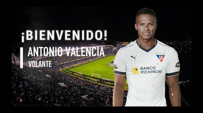 Antonio Valencia ficha por Liga de Quito de Ecuador