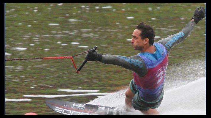 Felipe Miranda terminó 7° en el slalom tras sufrir una caída