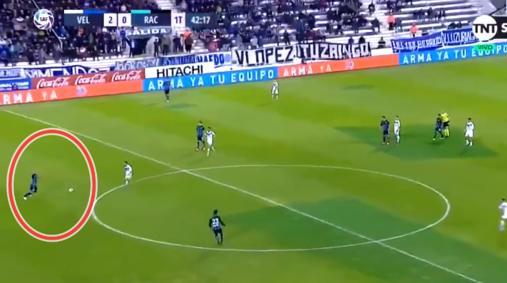 Error de Marcelo Díaz en Racing