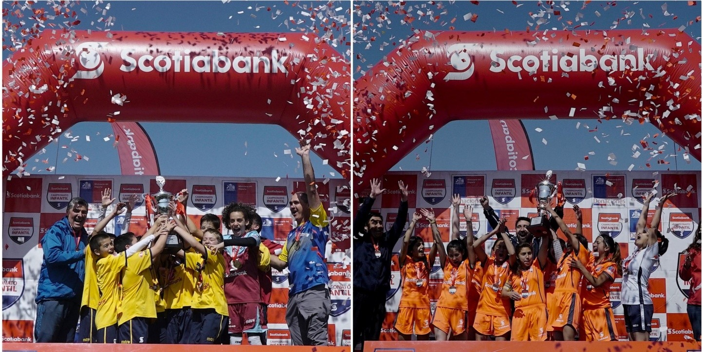 Instituto Hebreo y Boston College ganaron en el Campeonato Infantil Scotiabank en Santiago.