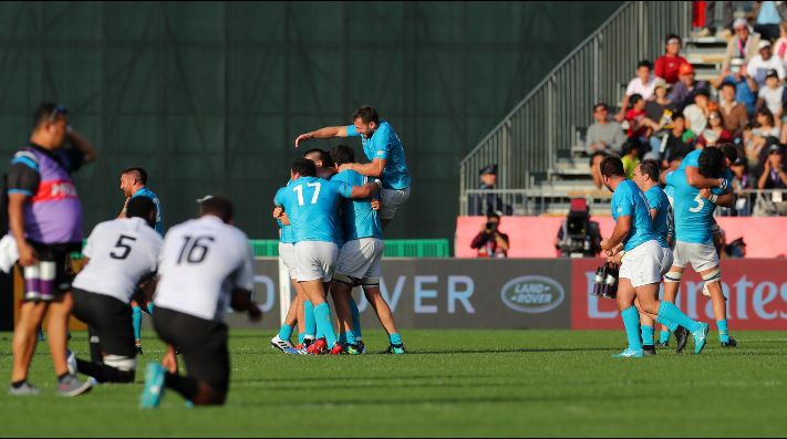 Uruguay logró una histórica victoria frente a Fiji