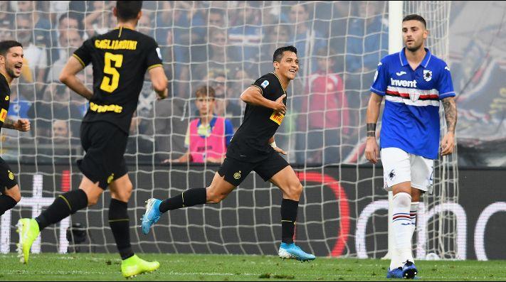 Dos goles de Alexis ante Sampdoria.