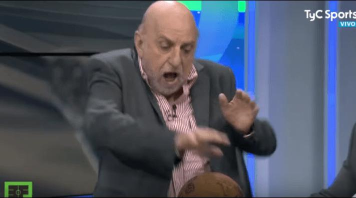 Pagani sufrió una tremenda caída en vivo y en directo