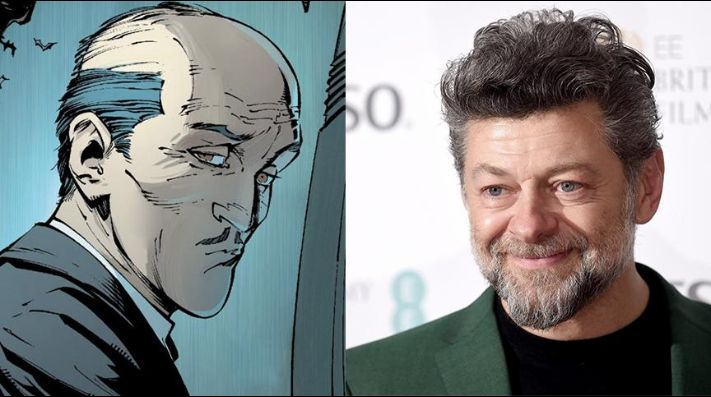 Es oficial. Andy Serkis será Alfred Pennyworth en The Batman