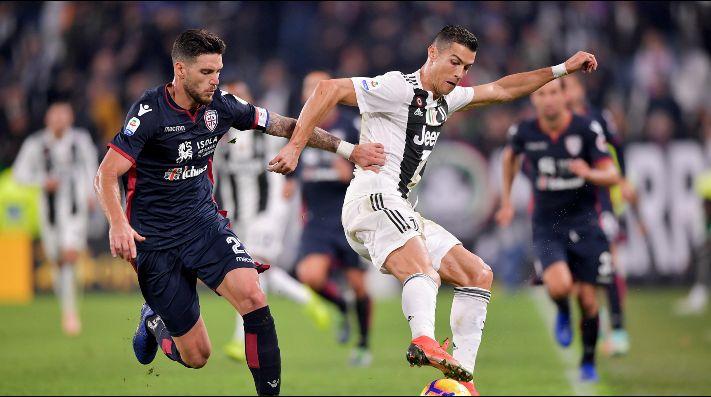 Juventus goleó al Cagliari con triplete de Cristiano Ronaldo