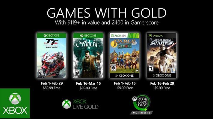 Estos son los juegos de Games with Gold para Febrero 2020