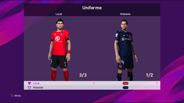 Colo Colo y la U con uniformes nuevos en eFootball PES 2020 tras el DLC 4.0