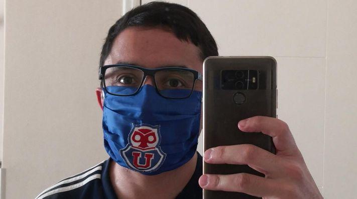 La protección del hincha azul contra el coronavirus.