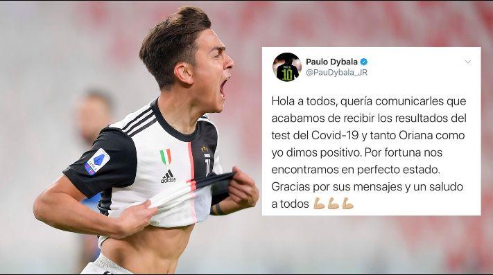 Paulo Dybala anunció que dio positivo en el test de coronavirus