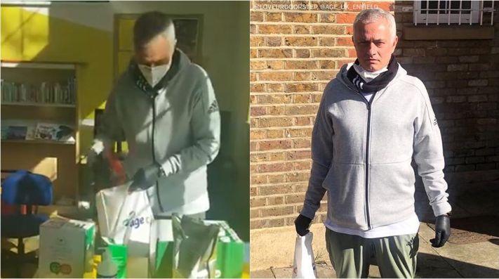 Mourinho en un centro de mayores para luchar contra el coronavirus