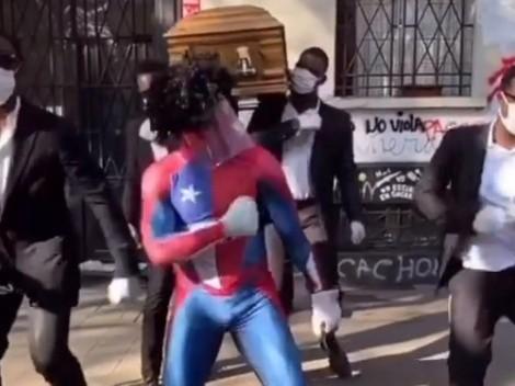 Video: Estúpido y Sensual Spiderman se unió a los africanos bailarines