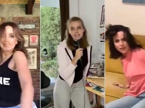 Video: Actrices chilenas imitan pelea virtual de estrellas de Hollywood