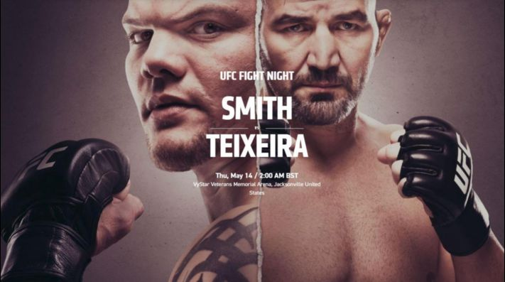La pelea de Anthony Smith y Glover Teixeira es el estelar del UFC Fight Night en Florida.