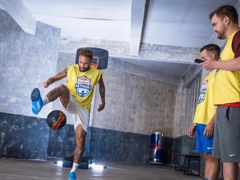 La rutina de ejercicios que Neymar armó desde casa
