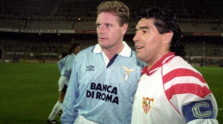 La anécdota de Paul Gascoigne con Maradona: