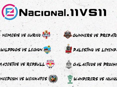 Así se jugarán las fechas 17 y 18 del eNacional.11vs11 de Liga Chilena de PES