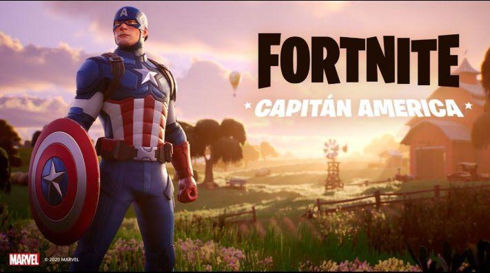 El Capitán América llegó a Fortnite