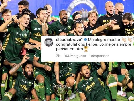 Bravo felicita a Felipe Mora por el título obtenido