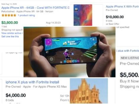 Celulares con Fortnite instalado son vendidos en millones de pesos