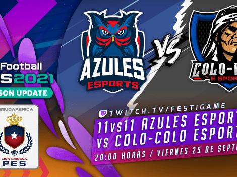 Colo Colo y Azules animarán el superclásico de PES 2021 en Festigame
