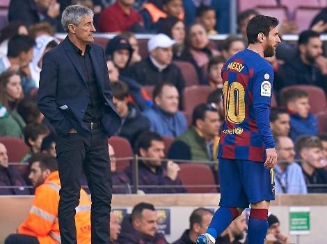 "Quique Setién sin filtro: ""Messi es difícil de gestionar"""