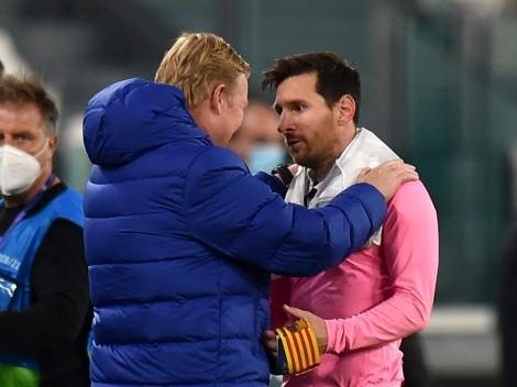 "Koeman: ""Messi no es un jugador que tenga dificultades para llevar"""