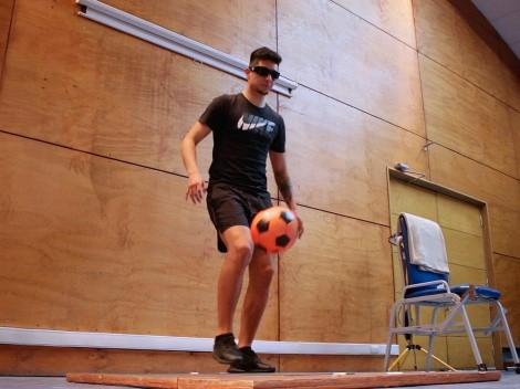 Gafas estroboscópicas para prevención de lesiones