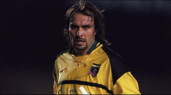 Marcelo Ramírez en su época de arquero de Colo Colo