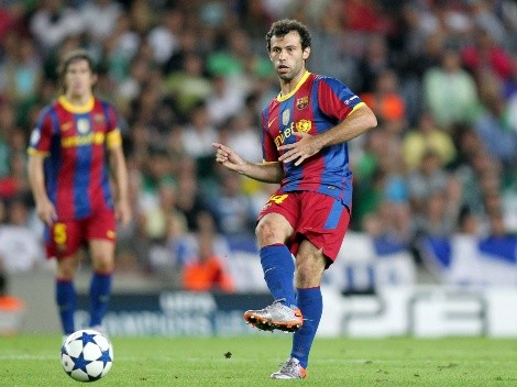 Mascherano se burla de rumor que lo saca del retiro para ir al Barça