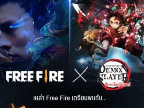 Free Fire se une a Kimetsu no Yaiba para un épico evento especial