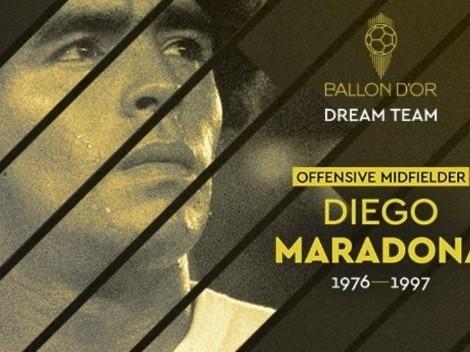 Pelé y Maradona integran el Dream Team del Balón de Oro