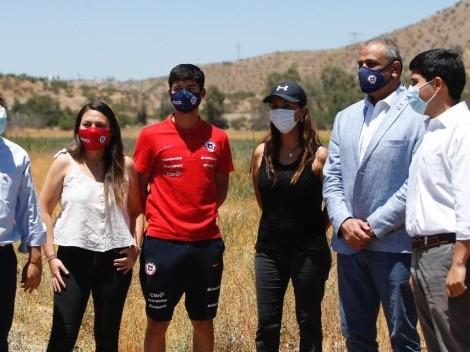 Autoridades recorren terrenos del nuevo Juan Pinto Durán