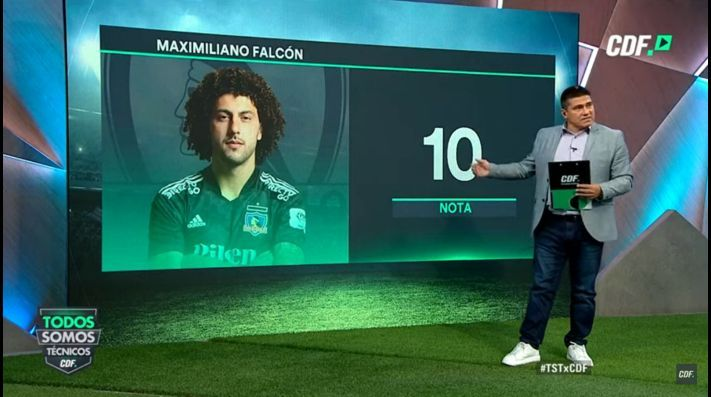 El profesor Marcelo Toby Vega se deshizo en elogios para Maximiliano Falcón después de su actuación ante Antofagasta por Colo Colo