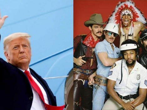 Donald Trump deja la presidencia al ritmo de YMCA