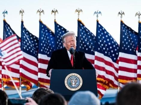 Imágenes: los últimos momentos de Trump como Presidente