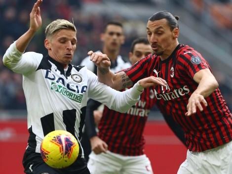 Sin Zlatan, el Milan recibe a Udinese y sigue al acecho del Inter